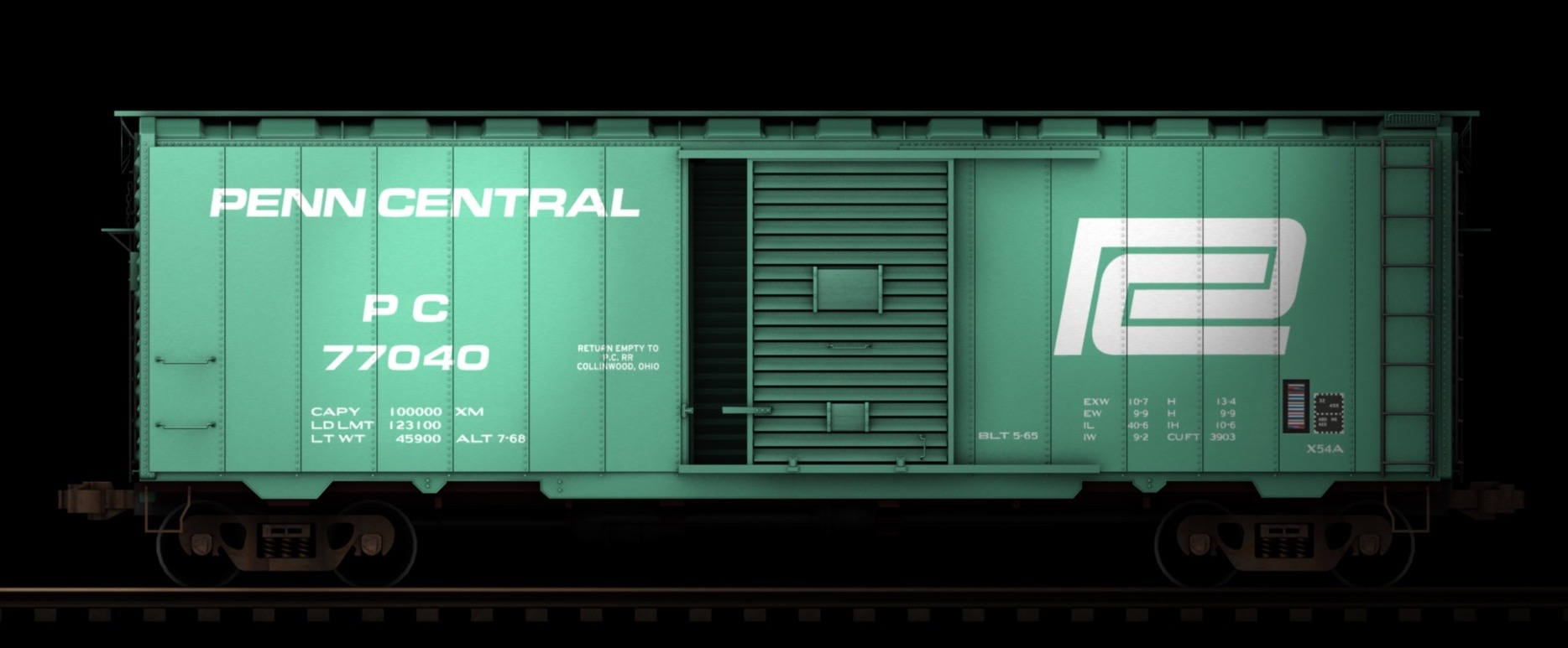 PC 40 foot boxcar